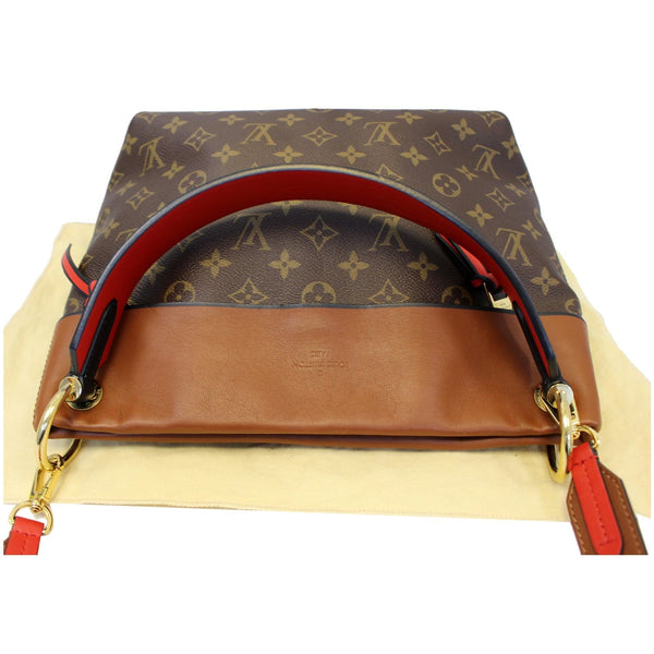LOUIS VUITTON Tuileries Besace Monogram Canvas Shoulder Bag Caramel