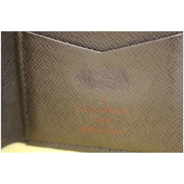 Louis Vuitton Card Case - Pocket Organizer Card Holder - inside view