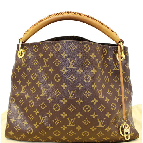 0ee7266a02ec LOUIS VUITTON Artsy MM Monogram Canvas Shoulder Bag Brown
