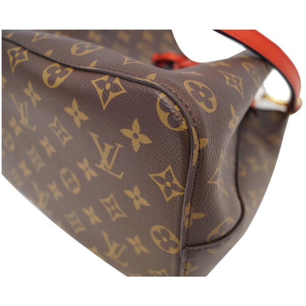 LOUIS VUITTON NeoNoe Monogram Canvas Shoulder Bag Coquelicot