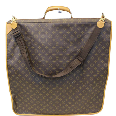 LOUIS VUITTON Monogram Canvas Garment Carrier Bag Brown