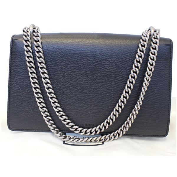 Gucci Shoulder Bag Dionysus Small Leather Black - chain strap