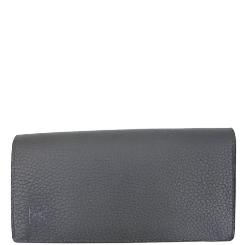 LOUIS VUITTON Brazza Taiga Leather Wallet Grey