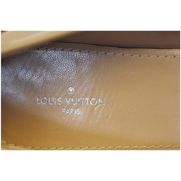 Louis Vuitton Madeleine Ballerina Patent Leather Blush - Lv logo