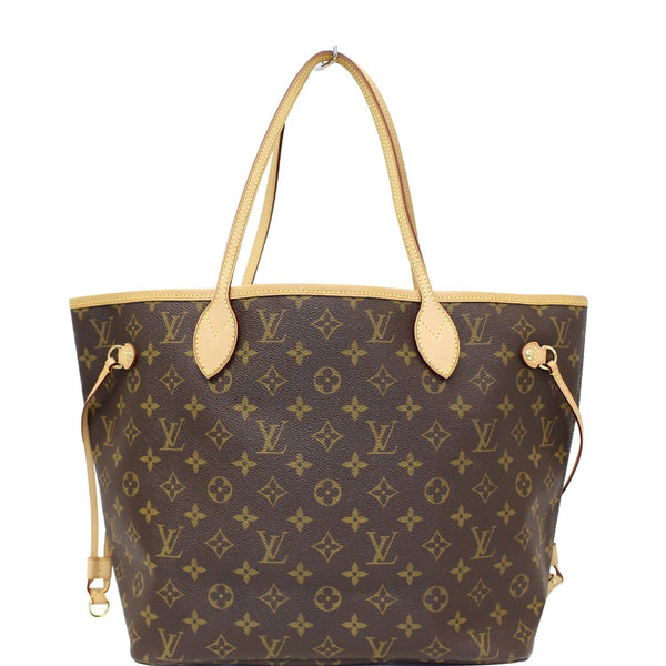 LOUIS VUITTON Neverfull MM Monogram Canvas Tote Bag Brown-US