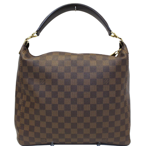 LOUIS VUITTON Portobello PM Damier Ebene Shoulder Bag Brown