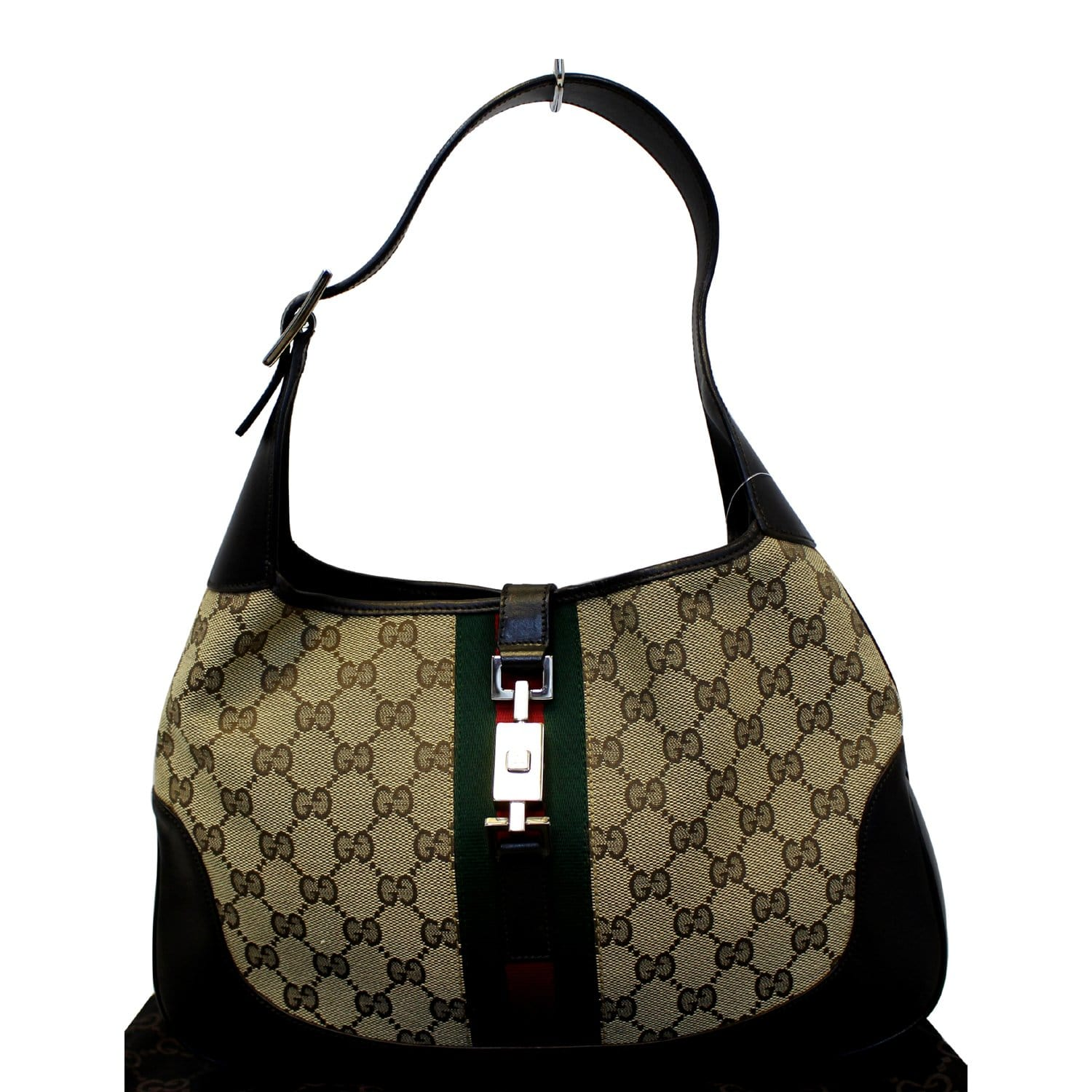 de31038e GUCCI Jackie O Web GG Canvas Hobo Bag-US