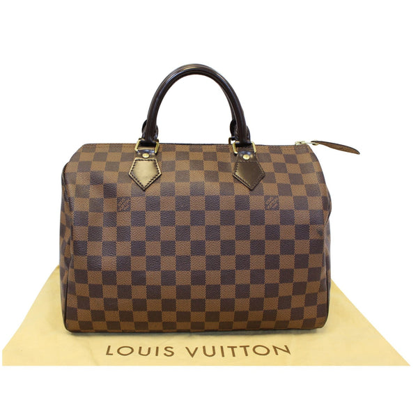 Louis Vuitton Speedy 30 Damier Ebene Satchel Bag Brown