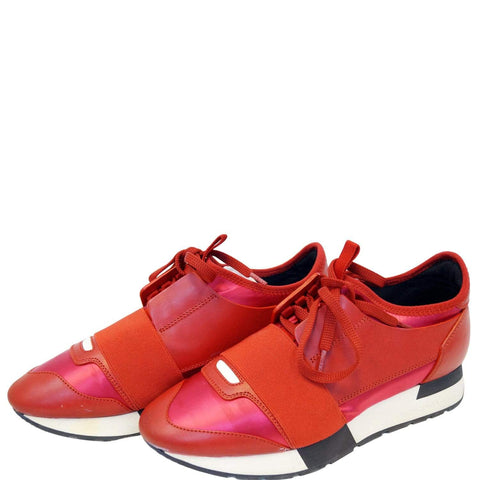 BALENCIAGA Race Runner Low-Top Sneakers Red - 15% OFF