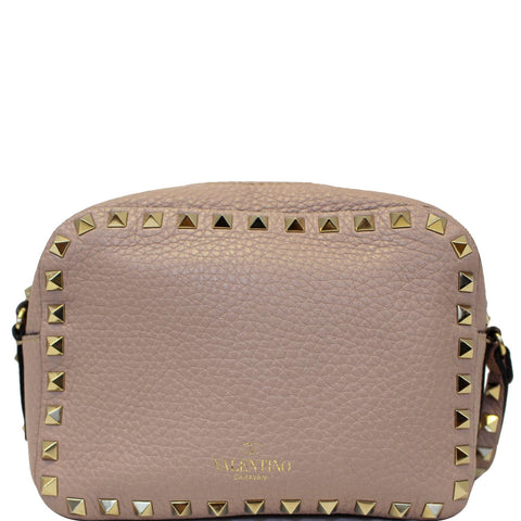 Valentino Rockstud Camera Leather Crossbody Bag Mauve