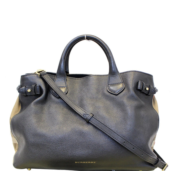 Burberry House Check Tote Bag - Black