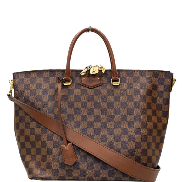 LOUIS VUITTON Belmont Damier Ebene Shoulder Bag Brown