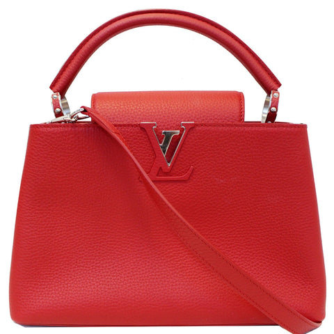 LOUIS VUITTON Capucines PM Taurillon Leather Shoulder Bag Scarlet