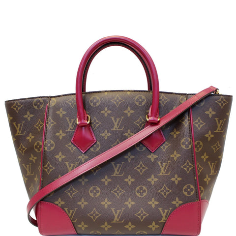 LOUIS VUITTON Phenix Monogram Canvas Shoulder Handbag Fuchsia