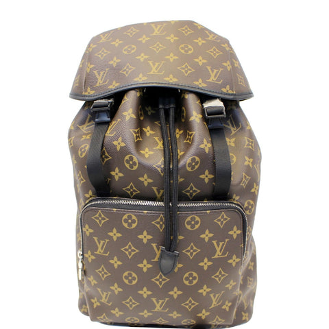 LOUIS VUITTON Zack Monogram Macassar Canvas Backpack Bag