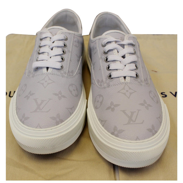 LOUIS VUITTON Trocadero Monogram Sneakers White US 9-US