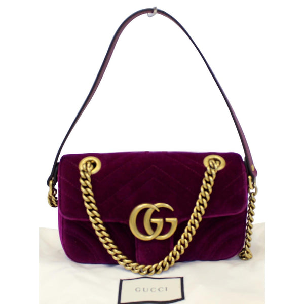 Gucci GG Marmont Velvet Mini Shoulder Crossbody Bag on sale