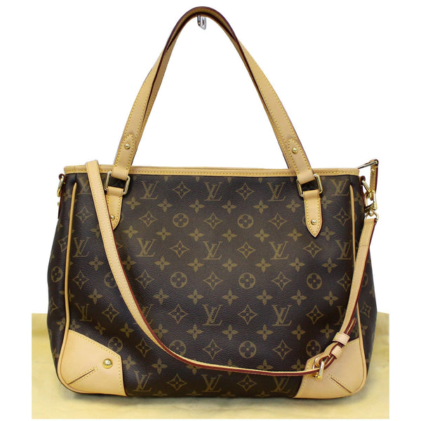 LOUIS VUITTON Estrela MM Monogram Canvas Shoulder Bag Brown