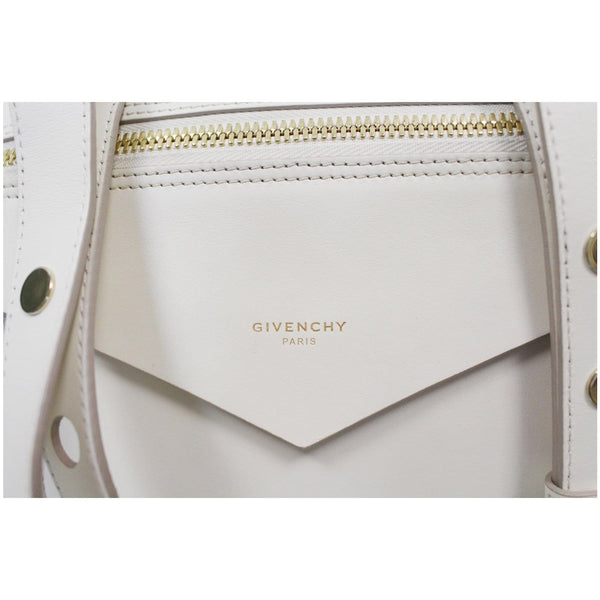 GIVENCHY Sway Small 2Way Leather Shoulder Bag White