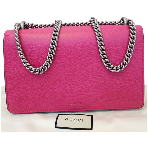 Gucci Dionysus Small Guccify Grained Leather Shoulder Bag Pink