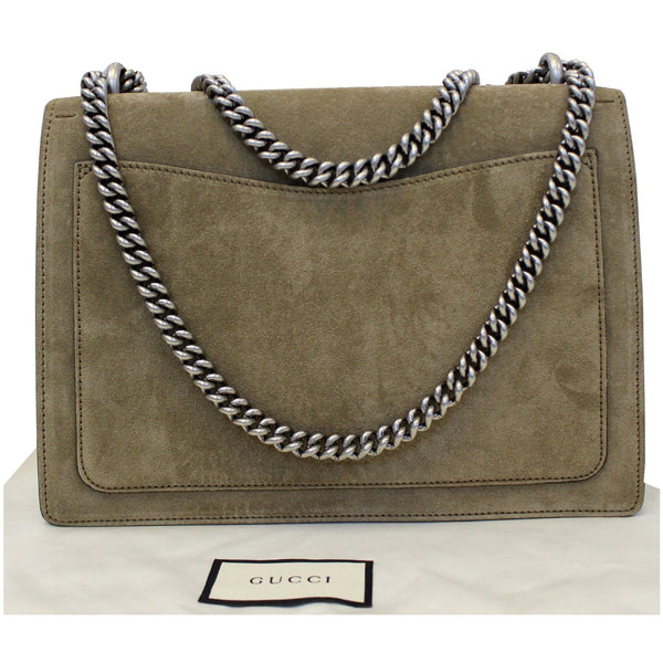 GUCCI Medium Dionysus Suede Leather Shoulder Bag Taupe 403348 - 20% OFF