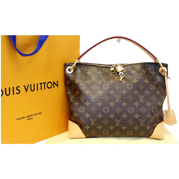 LOUIS VUITTON Berri PM Monogram Canvas Shoulder Bag Brown-US