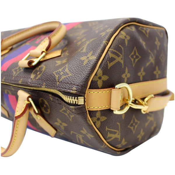 LV Speedy 30 Mon Bandouliere Canvas Bag - Corner right view