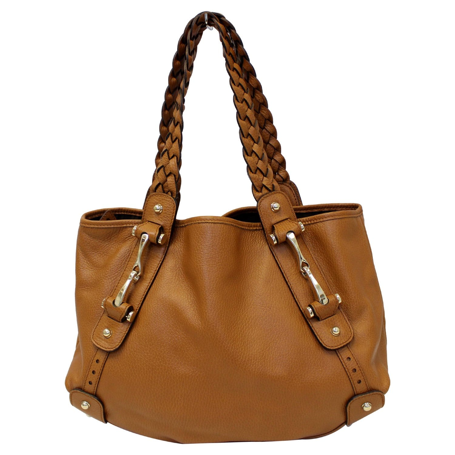 7161ea44b76 GUCCI Pelham Brown Leather Hobo Bag 336654-US