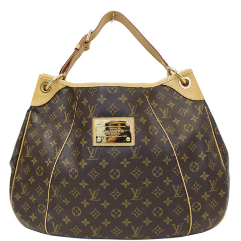 LOUIS VUITTON Galliera GM Monogram Canvas Shoulder Tote Bag Brown