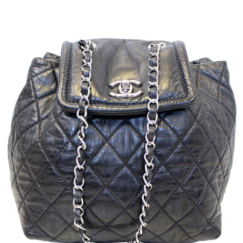 CHANEL Beijing 2 in 1 Black Quilted Leather Backpack Bag