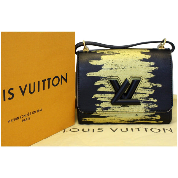 Elegant LV Twist PM Calfskin Leather Crossbody Bag