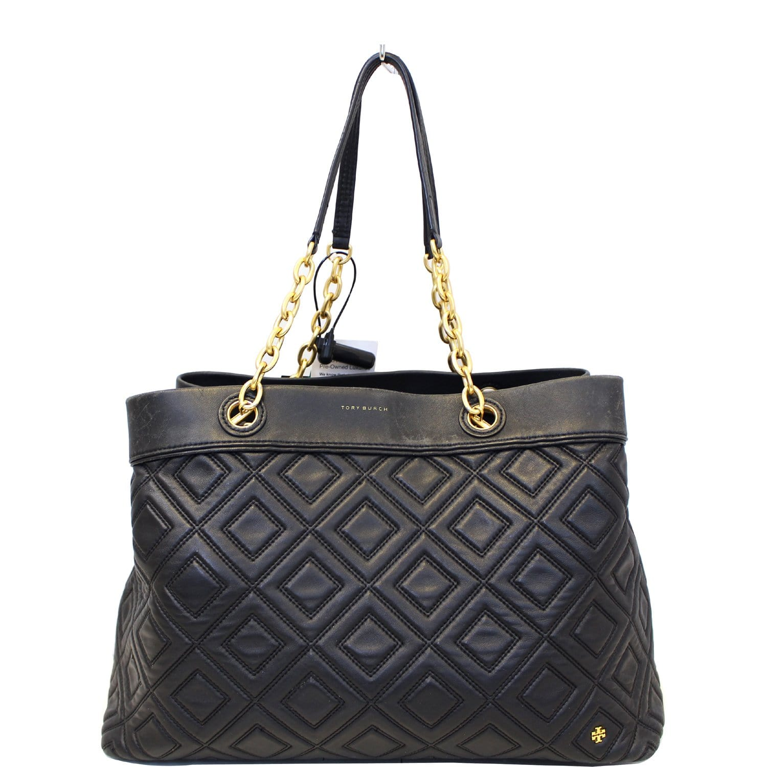 e0ca050ccc0 TORY BURCH Large Fleming Black Leather Tote Bag-US