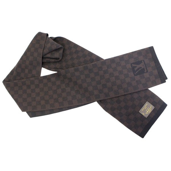 Louis Vuitton Damier Stole Scarf Wool Petit Brown - lv logo