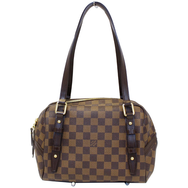Louis Vuitton Damier - Rivington PM Ebene Shoulder Bag - leather strip