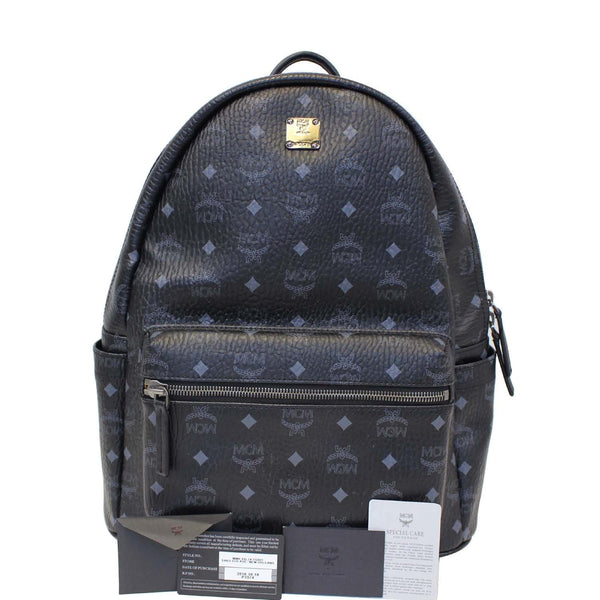 MCM Stark Classic Visetos Medium Backpack Bag Black-US