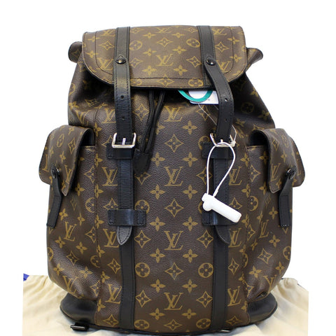 LOUIS VUITTON Christopher PM Monogram Macassar Canvas Backpack Bag