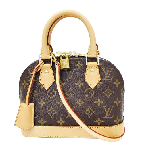 LOUIS VUITTON Alma BB Monogram Canvas Satchel Crossbody Bag b072edcde9ccb