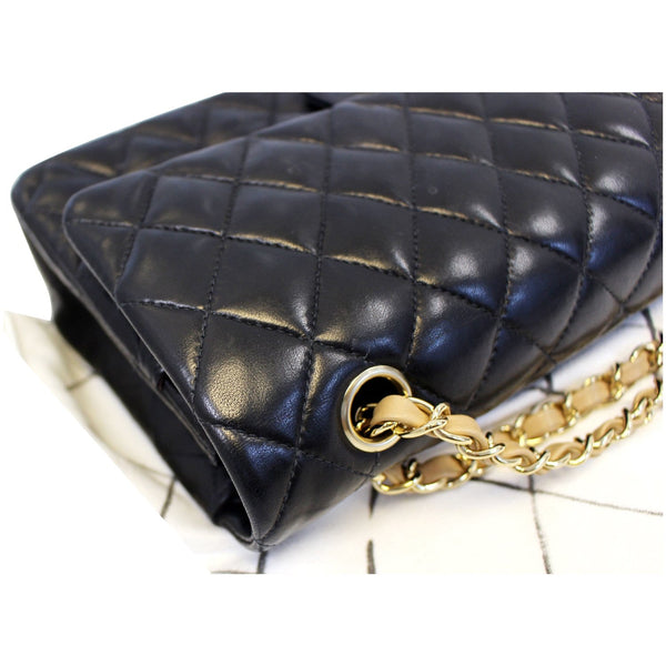 CHANEL Classic Jumbo Quilted Lambskin Leather Double Flap Shoulder Bag-US