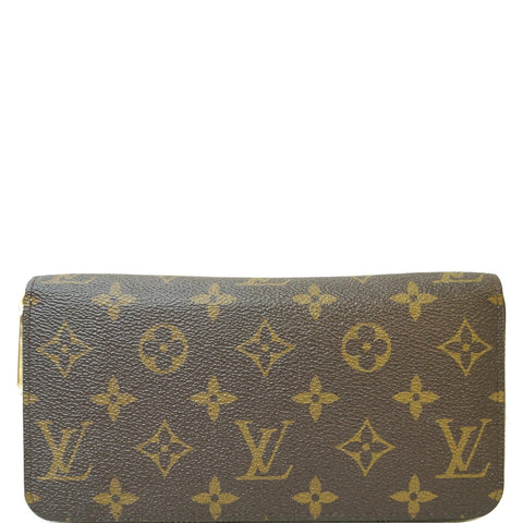 LOUIS VUITTON Monogram Canvas Zippy Long Wallet Brown