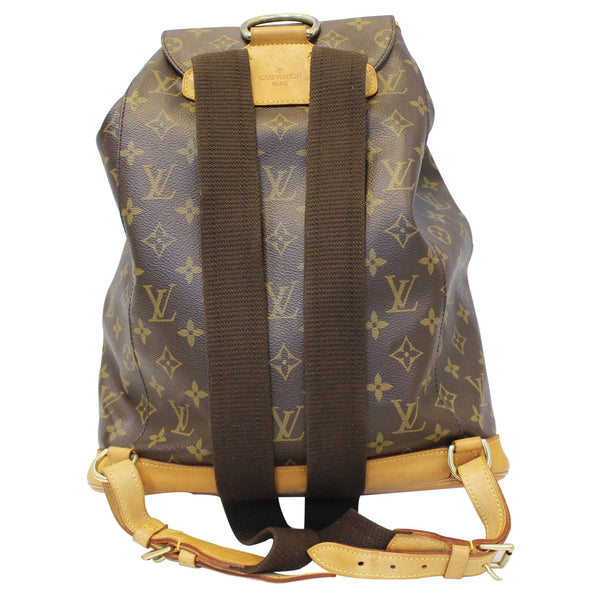 LOUIS VUITTON Montsouris GM Monogram Canvas Backpack Bag Brown-US