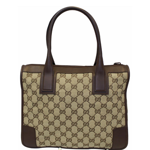 GUCCI GG Supreme Canvas Tote Bag Brown