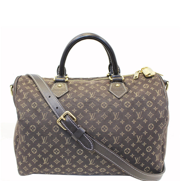 LOUIS VUITTON Speedy 30 Bandouliere Monogram Idylle Shoulder Bag Fusain-US