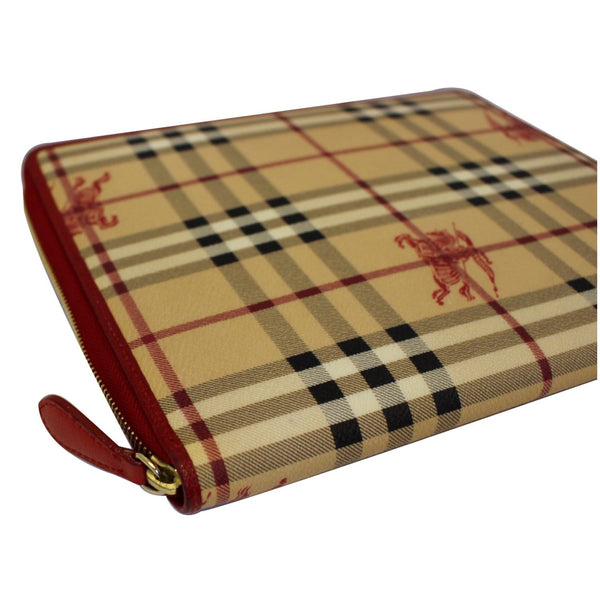BURBERRY Check Leather iPad Cover Red-US