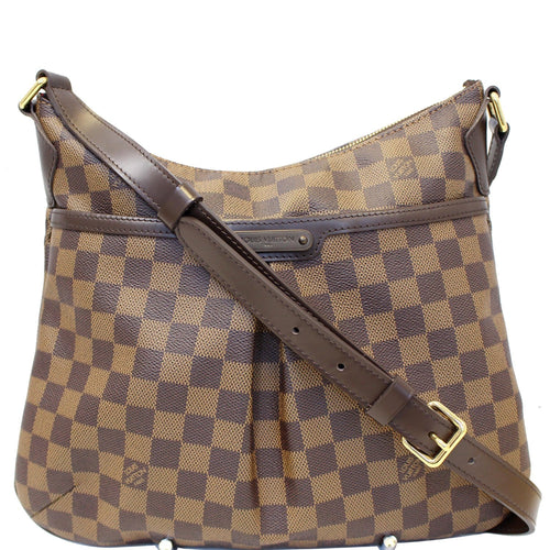 LOUIS VUITTON Bloomsbury PM Damier Ebene Crossbody Bag Brown