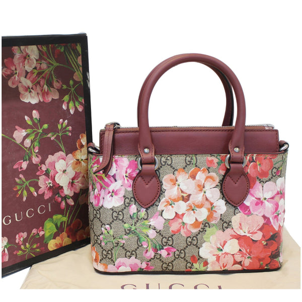 Gucci Satchel Bag GG Supreme Blooms Small - gucci strap