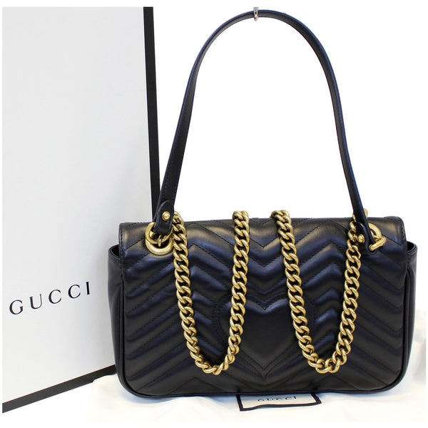 Gucci GG Marmont Small Matelasse Leather Crossbody Bag - strap