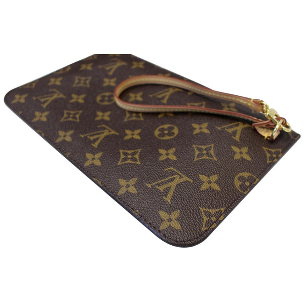 Louis Vuitton Pochette Wristlet Neverfull MM Pouch - side view