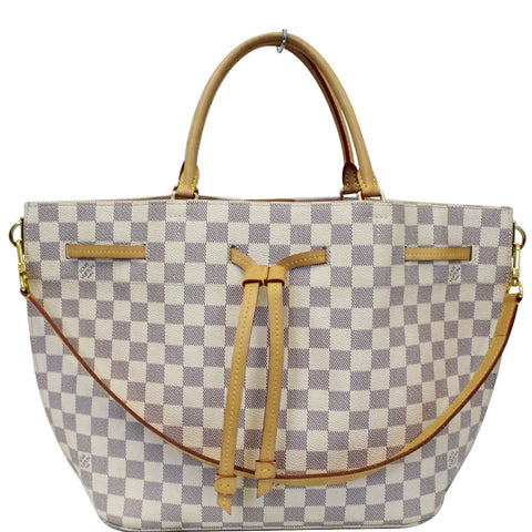 LOUIS VUITTON Girolata Damier Azur Shoulder Bag White