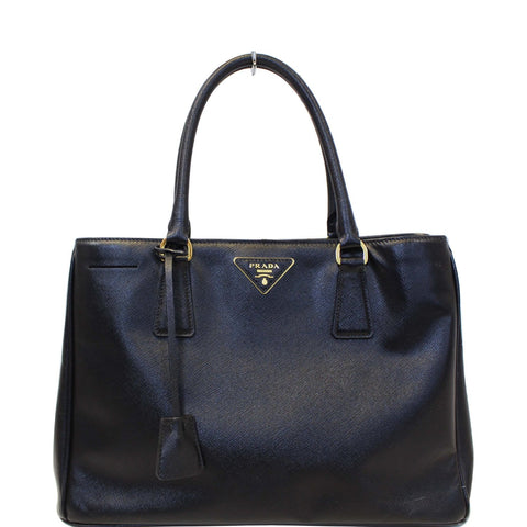 PRADA Galleria Medium Saffiano Leather Tote Bag Black