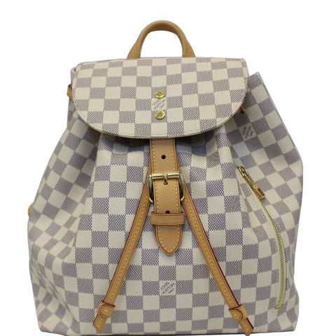 LOUIS VUITTON Sperone Damier Azur Backpack Bag White